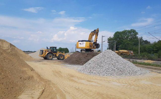Lieferung von Schüttgut und Gleisbaumaterial